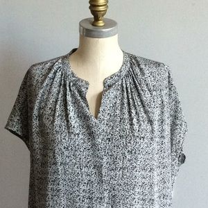 VINCE Silk Polka Dot Shift Dress